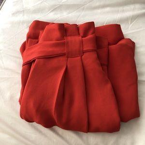 c9948a99ad River Island Pants - RIVER ISLAND Red wide leg trousers pants